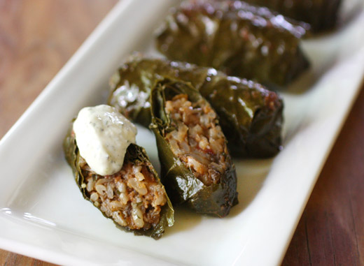 Lisa is cooking baked stuffed vine leaves im so glad i finally pulled the book food from many greek kitchens forumfinder Choice Image