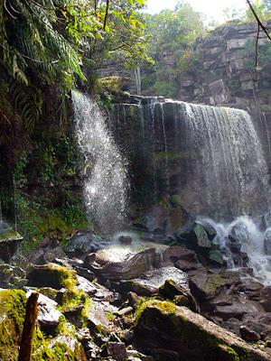 freshen up at the beautiful falls