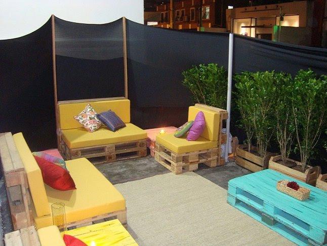 mobiliario jardim area:Wood Pallet Patio Furniture