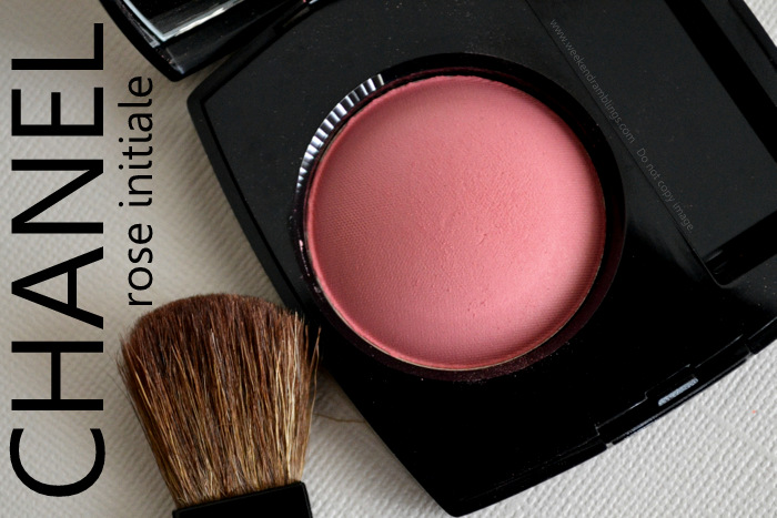 Les Essentiels de Chanel Fall Makeup 2012 Joues Contrate Blush Rose Initiale Beauty Blog Swatches Reviews Ingredients FOTD Looks
