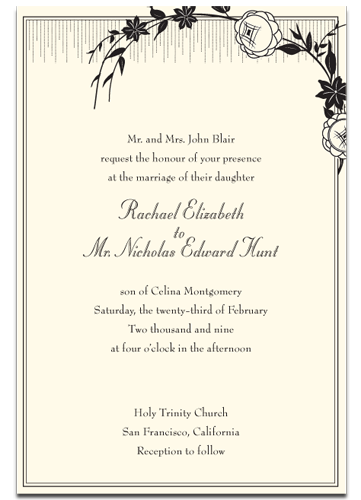 Unique Wedding Invitation Wording Examples is great invitation layout