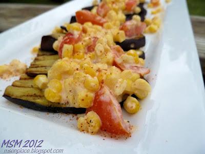 Eggplant w/ Creamy Corn Sauce | Ms. enPlace