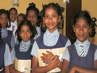A young teen girls receiving education.