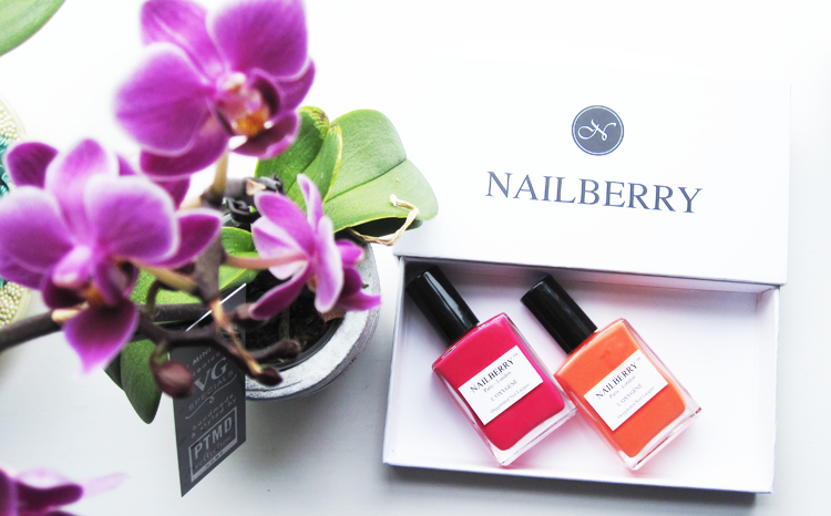 Nailberry Summer Brights L'Oxygene Collection 2015 - Pinkberry & Decadence