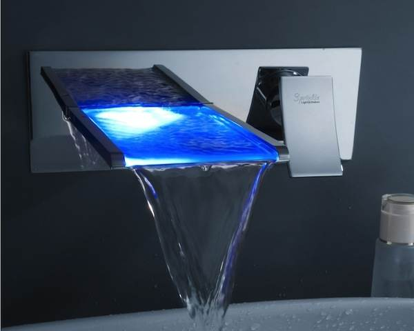 Led Waterfall Bathroom Sink Faucet Interesting Creative