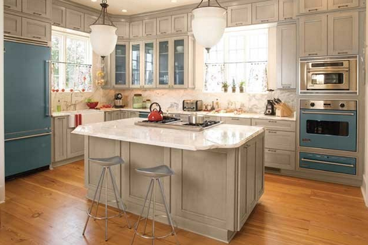 Bisque colored appliances for Almond colored kitchen cabinets