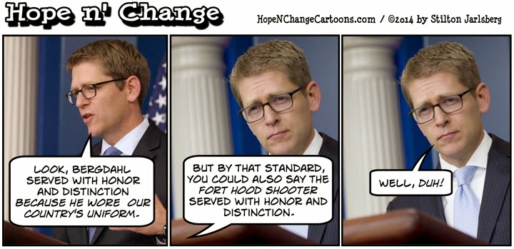 obama, obama jokes, political, humor, cartoon, conservative, hope n' change, hope and change, stilton jarlsberg, bowe bergdahl, taliban, gitmo five, susan rice, jay carney