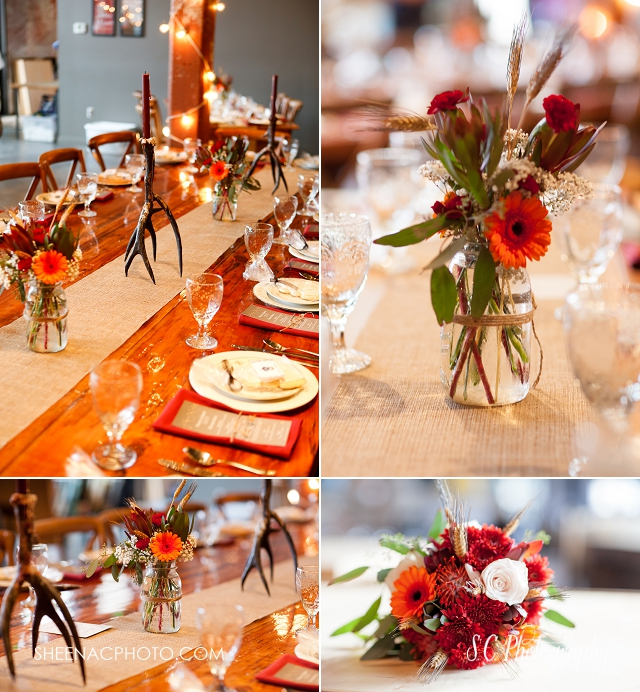 journeyman distillery wedding photographer, fall wedding, antler wedding decor, crystal springs florist