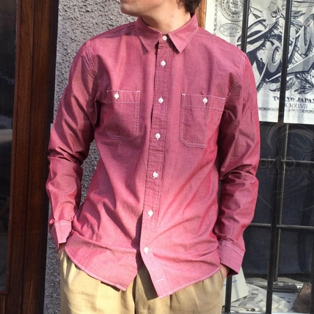 Heavy enzyme washed dress shirt