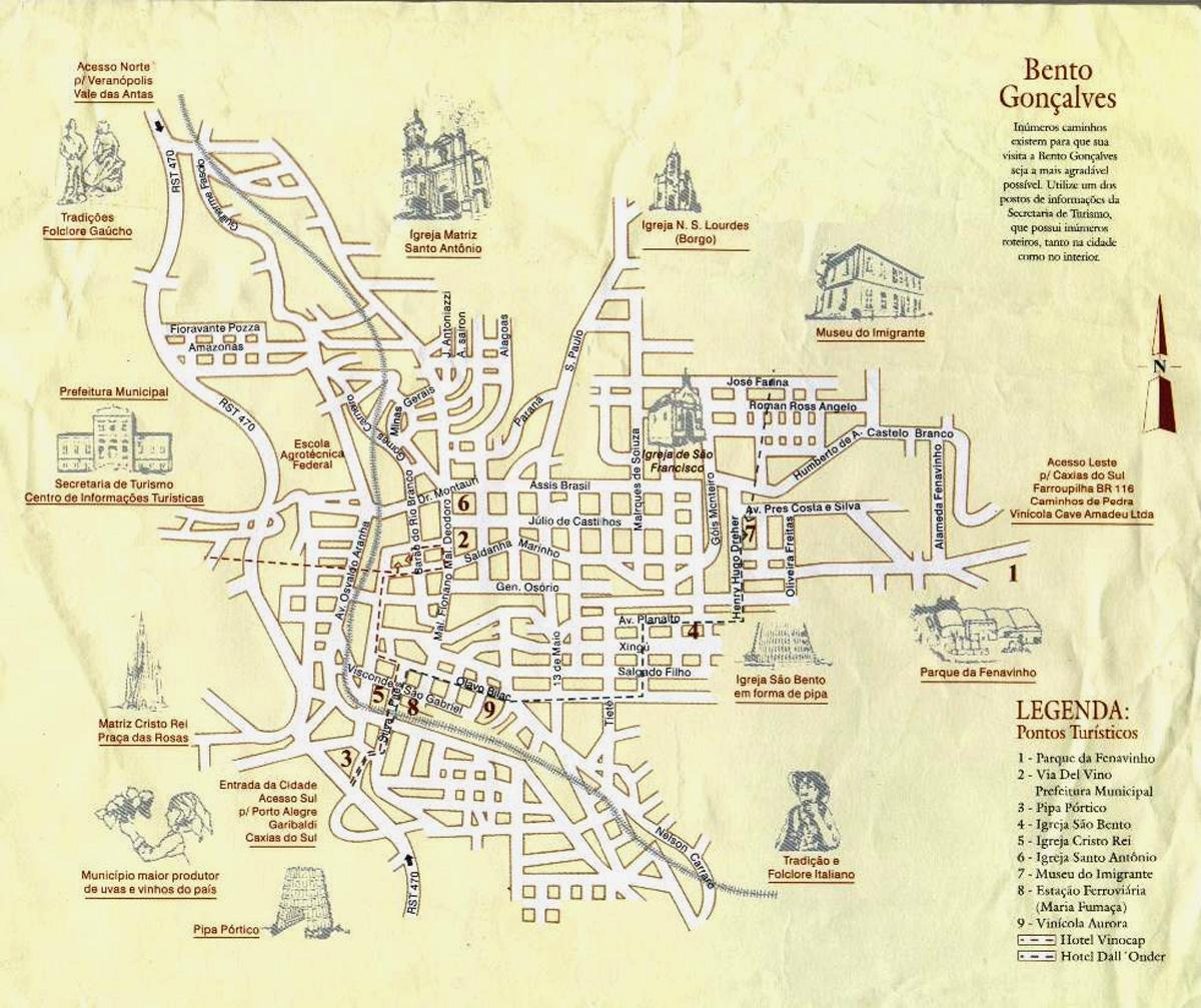 Mapas de Bento Gonçalves – RS