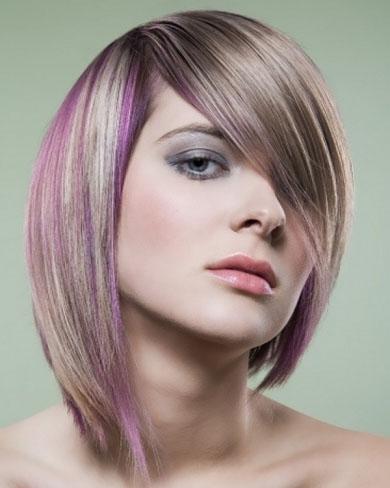 Purple Hair Highlights 2014