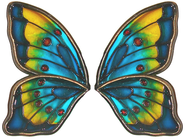 Stained Glass Butterfly Wings