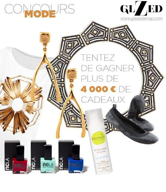 40 produits de beauté Aïny + 11 paires de balerines +11 bijoux Kardashian +  11 lots vernis et nail patch + 6 t-shirts Glazed