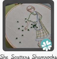 st patrick's day shamrock embroidery pattern