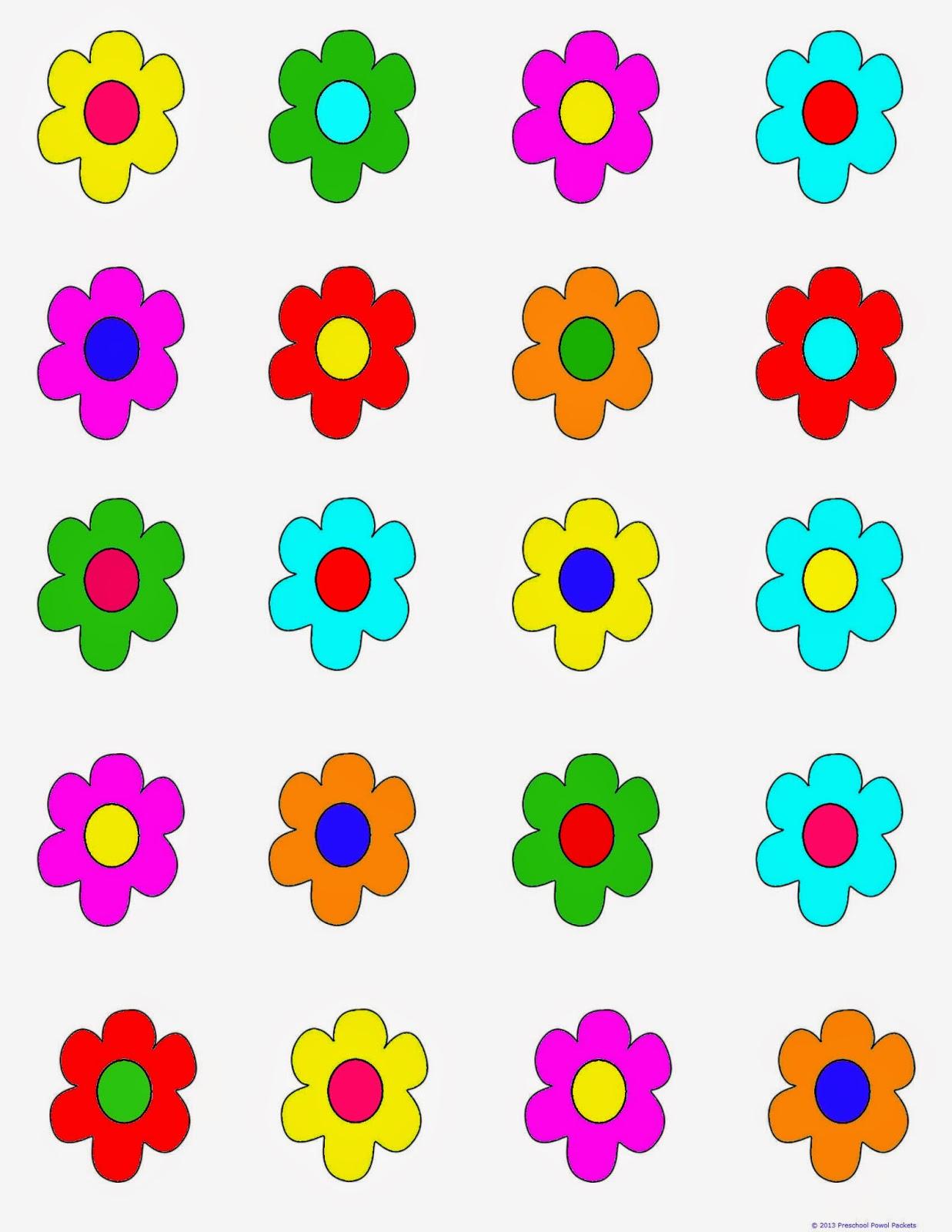 free printable game flower hunt preschool powol packets