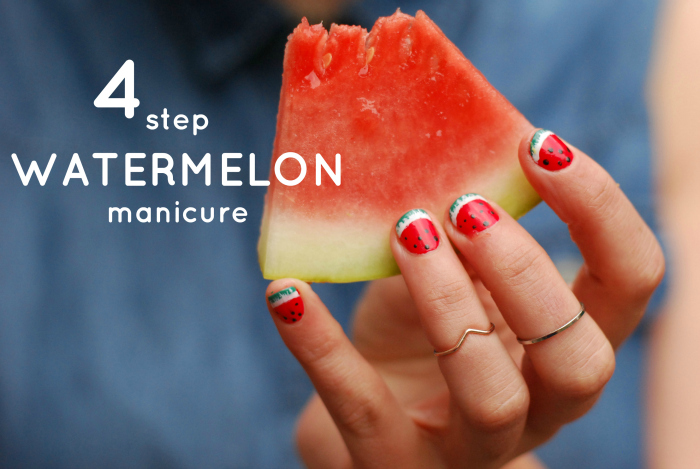 Watermelon Nail Art Tutorial Guest Post Tales Of A Pale Face