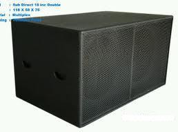 harga box sepasang belum termasuk speaker box berbahan mdf dilapis