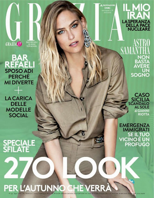 Actress, Supermodel @ Bar Refaeli - Grazia Italy July 2015