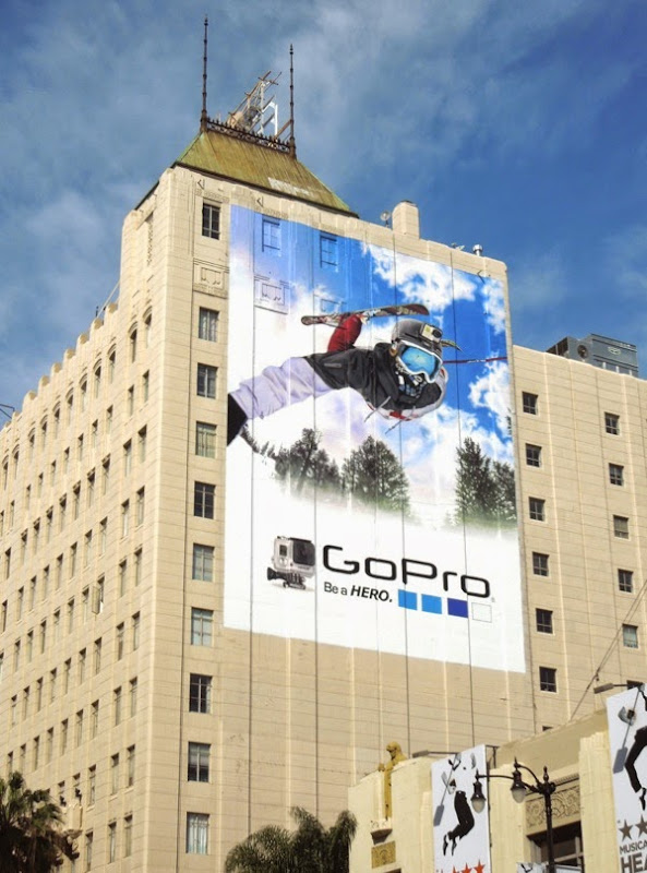 Giant GoPro skiing billboard