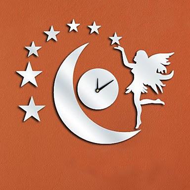 Reloj de Pared Espejo Hada Luna
