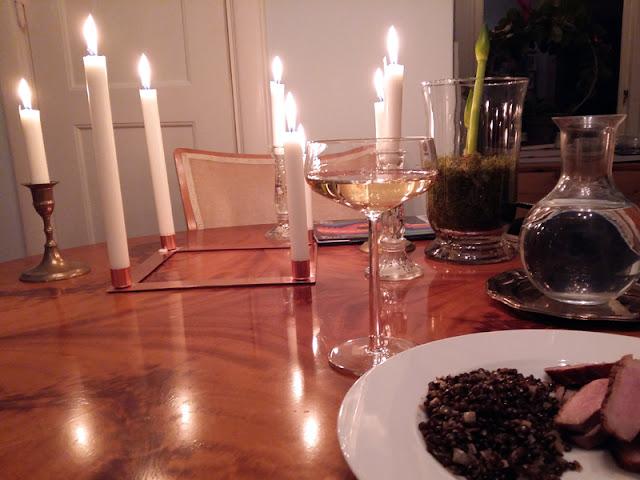 Champagne, duck and beluga lentils | www.stinap.com