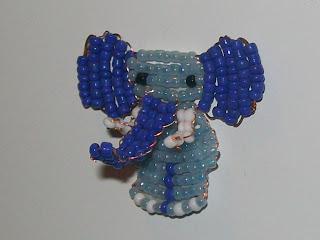 Beaded flat elephant