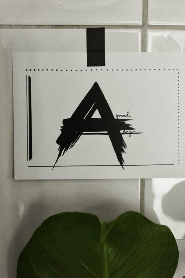 vykort med tryck, artprints vykort, svarta och vita prints, washitejp