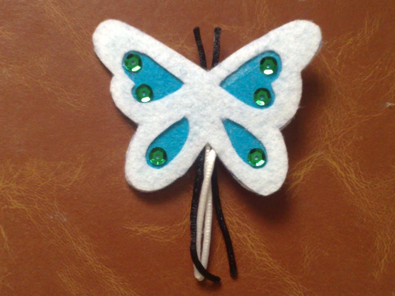 Manualidades de fieltro broches mariposa - Broches para manualidades ...