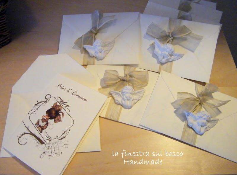 Famoso La finestra sul bosco Handmade: Prima Comunione: Il biglietto d  IE14