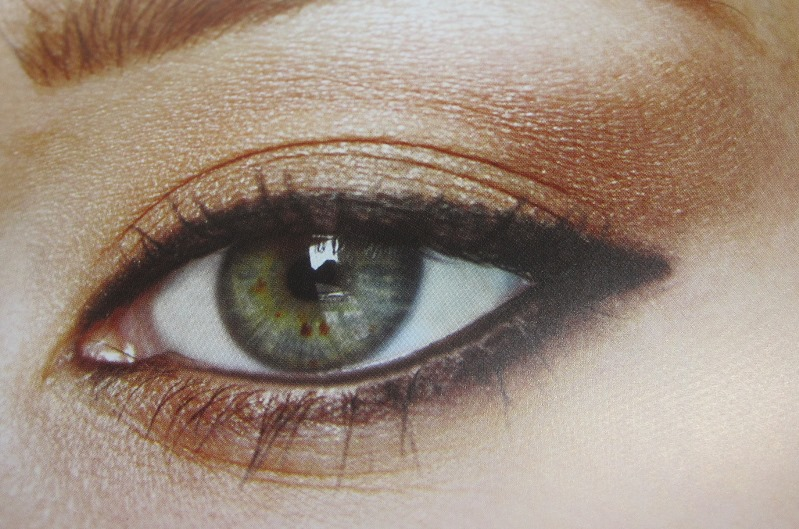 a peachy-golden look from 00 Eye Makeup Designs: Inspired and Inventive Looks for Every Mood and Occasion