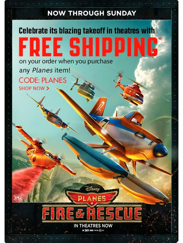 Free Shipping at the Disney Store Planes Fire Rescue