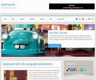 Mulopi Magazine Blogger Template