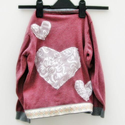 Upcycled childrens cardigan