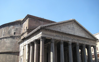 The Pantheon, the only surviving Roman Temple.