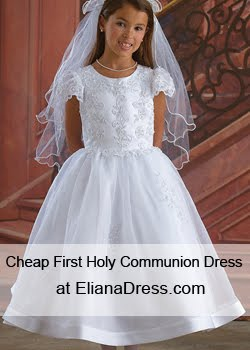 2017 first communion dresses at ElianaDress.com