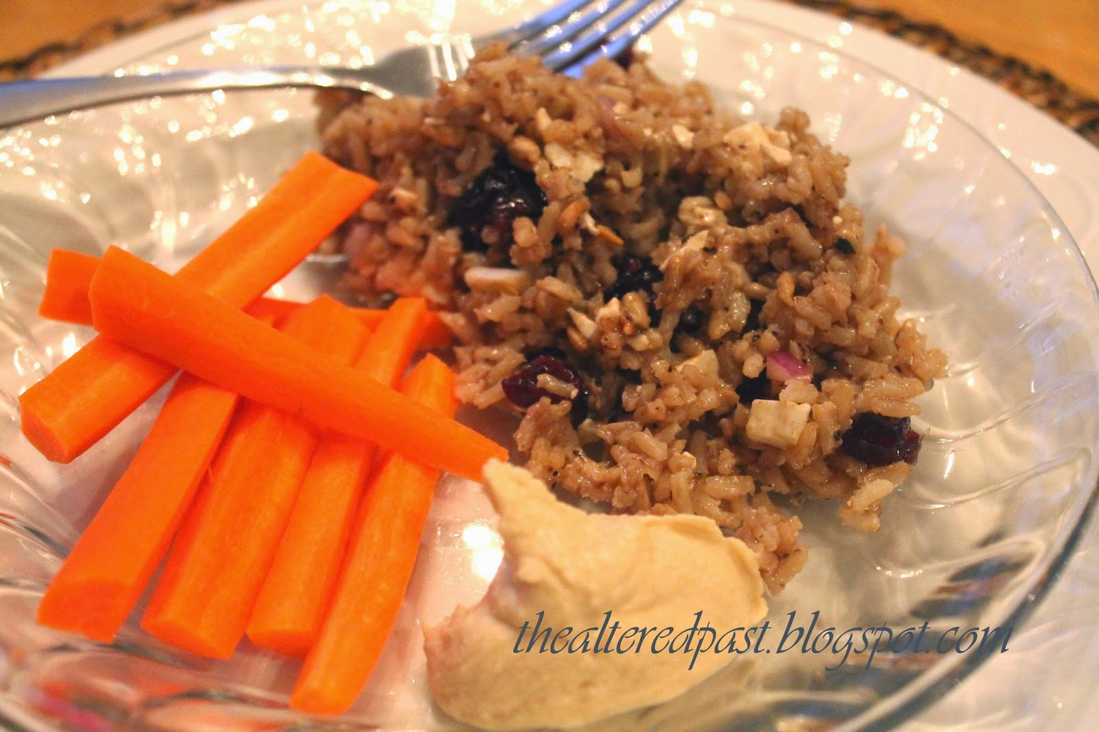 amazing brown rice salad recipe, the altered past blog