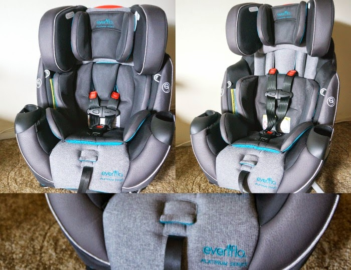 Upfront Harness Adjustment on convertible car seat // livingmividaloca.com #evenfloplatinum #ad