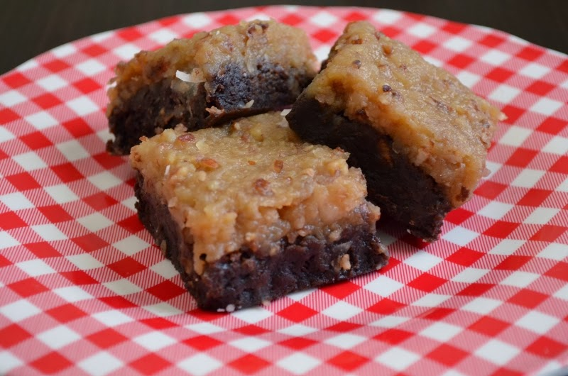 For the Love of Dessert: German Chocolate Brownies