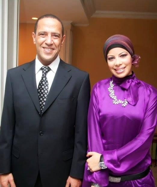 مع الفنان أشرف عبد الباقى عام 2009