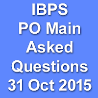 IBPS PO Main Asked Questions