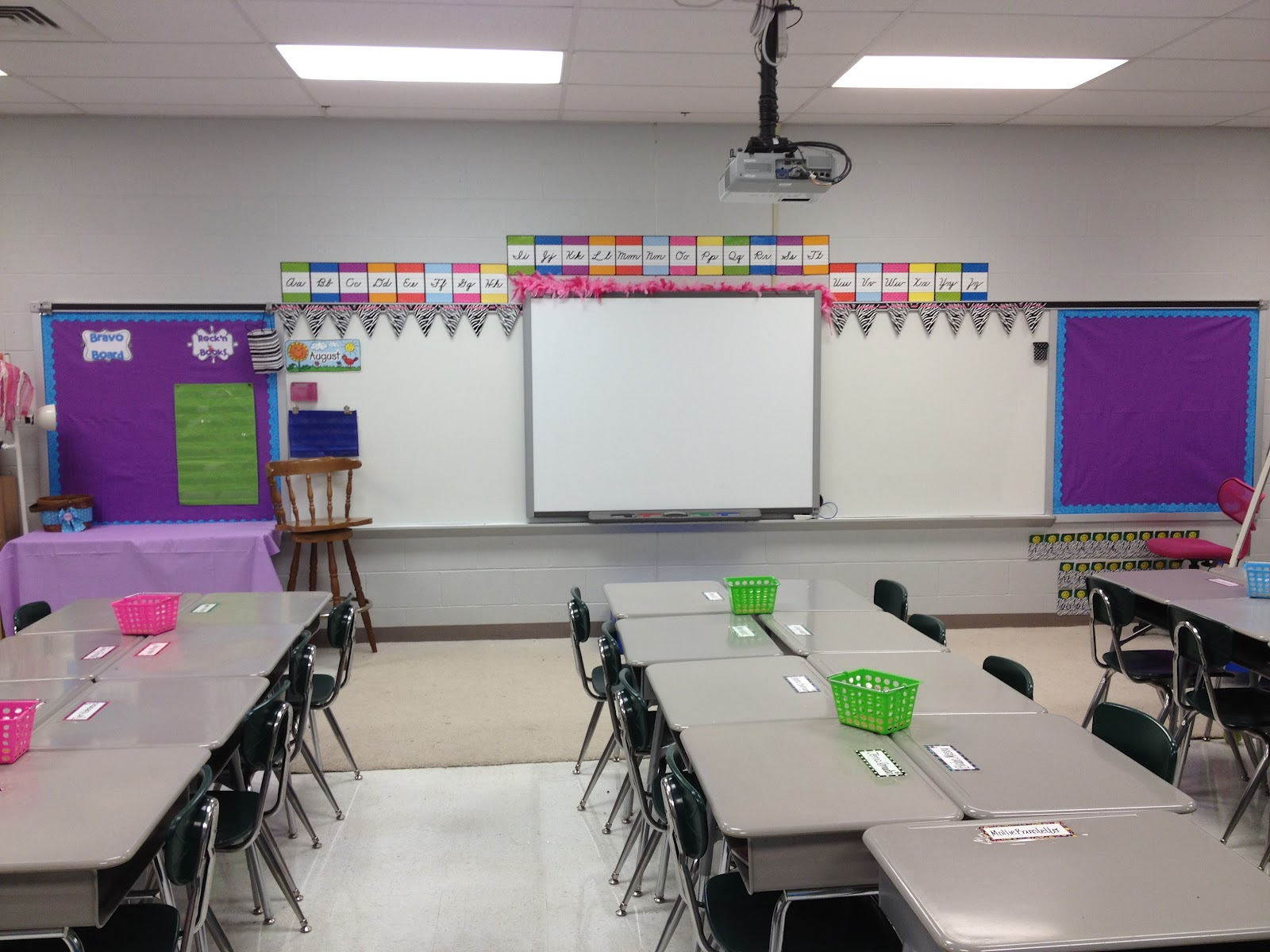Classroom Workstation Ideas ~ Teacher chicks classroom setup with lots of freebies