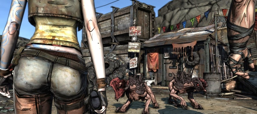 girl's ass Borderlands hot chick video game