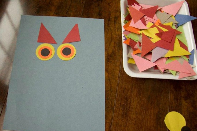 how to make owl with craft paper