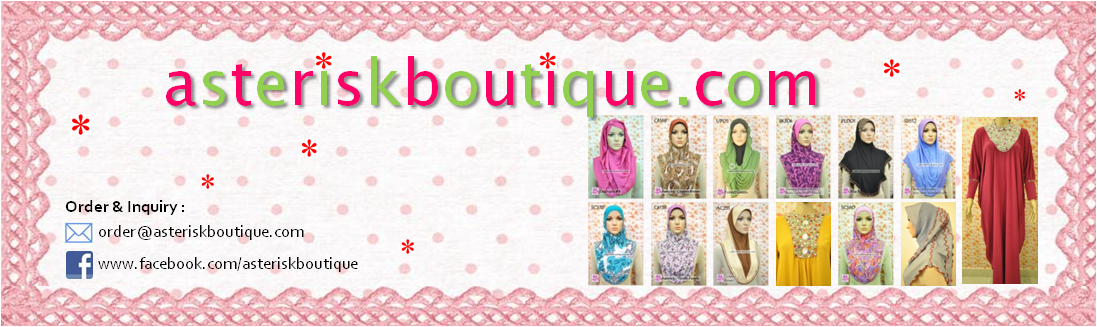 Tudung, Cotton, Chiffon and Jacquard : Exclusive at Asterisk Boutique, Malaysia