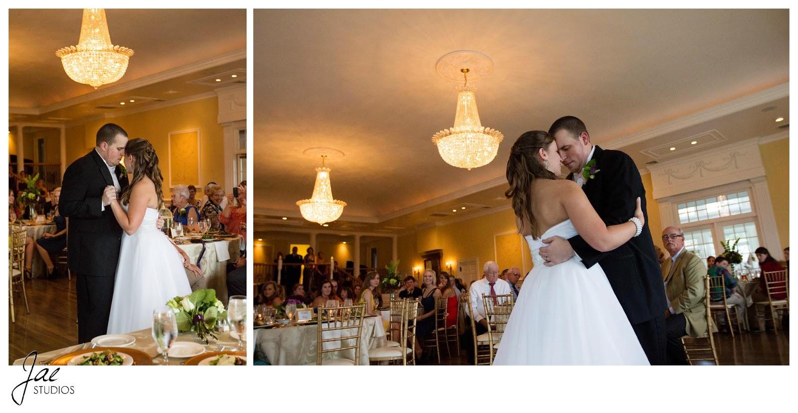 Jonathan and Julie, Bird cage, West Manor Estate, Wedding, Lynchburg, Virginia, Jae Studios, wedding dress, chandelier, dancing, tuxedo, purple, tables, guests