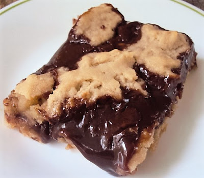 Chocolate Caramel Shortbread Bars; flourmewithlove.com