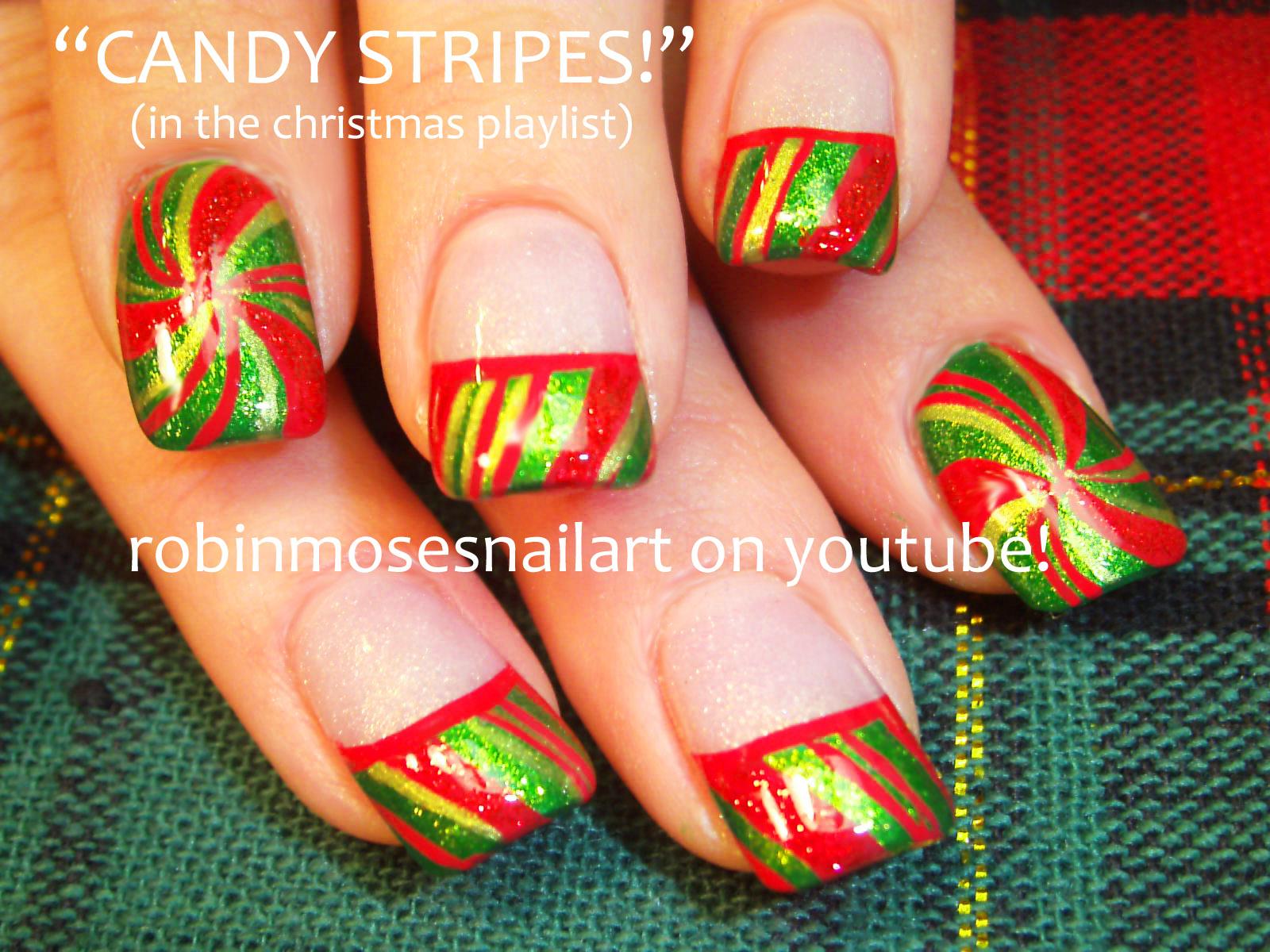 Robin moses nail art nail art christmas nail art sexy santa christmas nail art peppermint candy prinsesfo Choice Image
