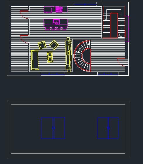autocad,final elevation,lines,windows,walls, doors