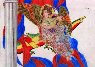 Angel tocant la bandúrria
