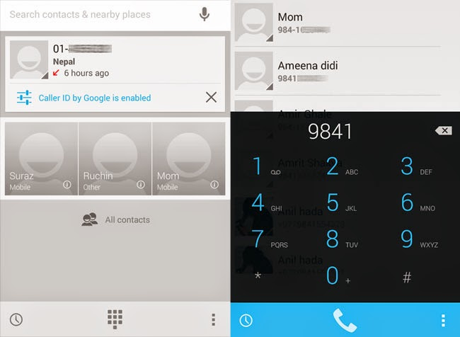 Nexus 4 Dialer in KitKat 4.4